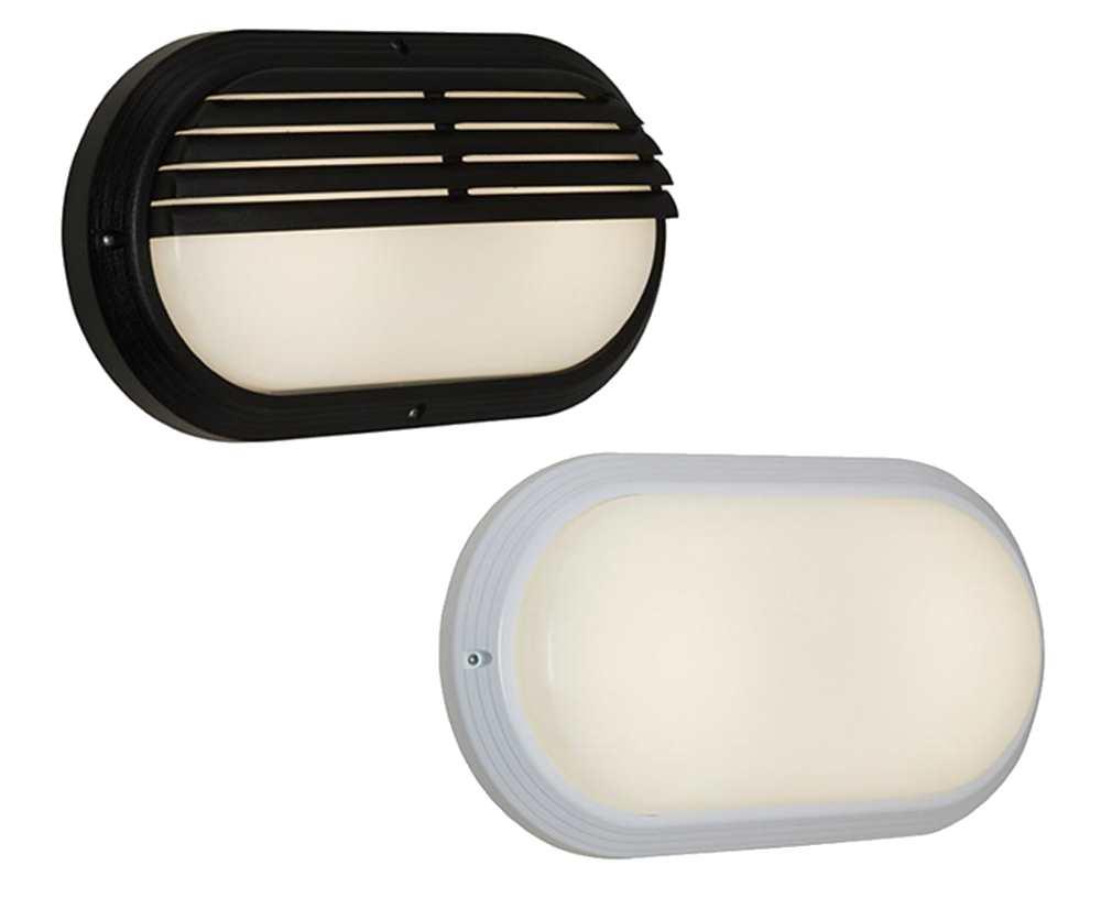 Ansell Sorrento 2 7W LED Oval Bulkheads White or Black