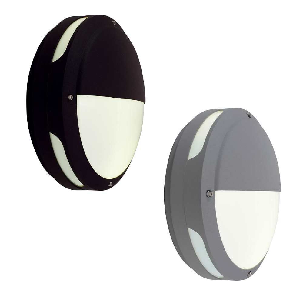 Ansell Tardo LED Decoractive Bulkheads 25W Black or Silver Grey