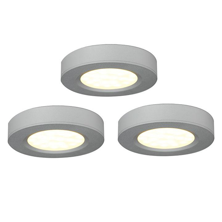 Ansell Trio LED Cabinet Light Kits 3 x 3W LED and Individuals for Expansion