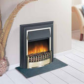 Dimplex CHT20 CheritonBrass/Black Optiflame Electric Fires.