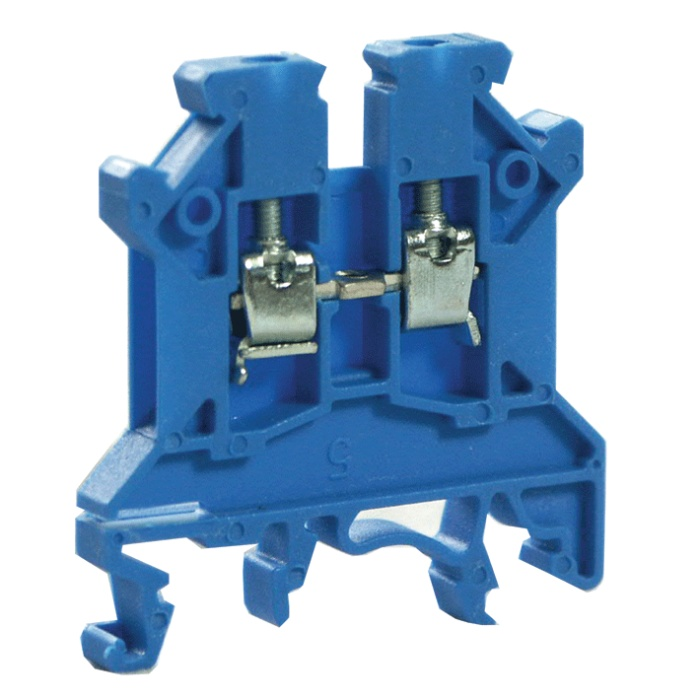 6mm Blue Din Rail Terminal