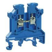 4mm Blue Din Rail Terminal