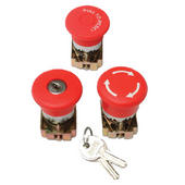 Emergency Stop Button Twist Release + 1 N/O and Collar