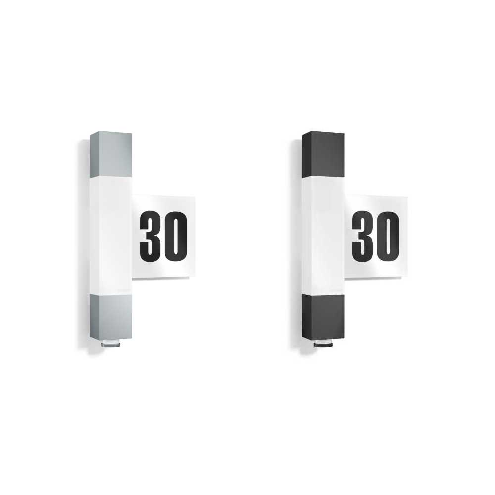 Steinel L630 LED Outdoor Sensor Light with Self Adhesive Numbers