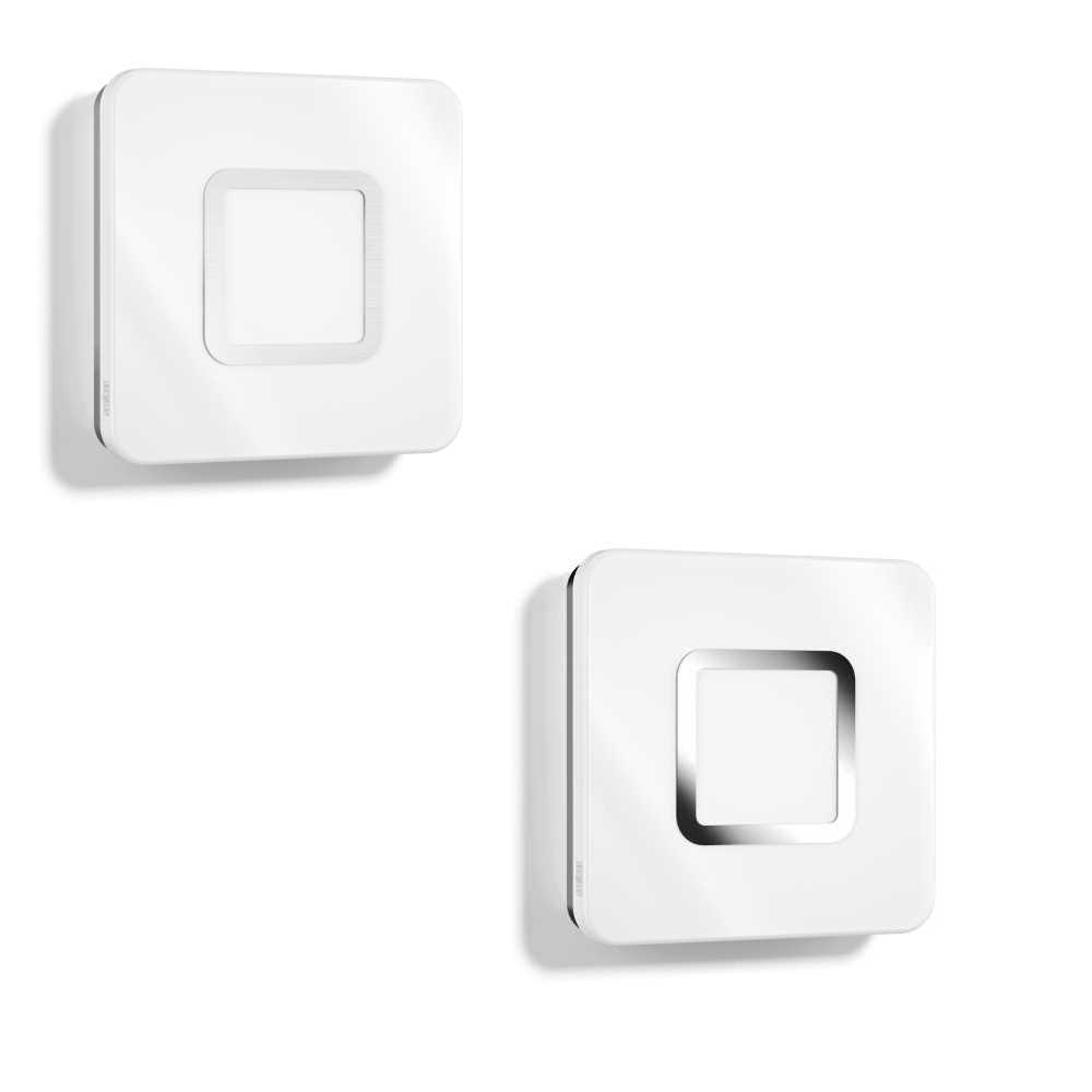Steinel RS LED M1 Indoor Wall Ceiling Light with HF Sensor Chrome or St Steel