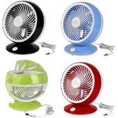 Fantasia USB 2 Speed Desk Fans Black Red Green Blue