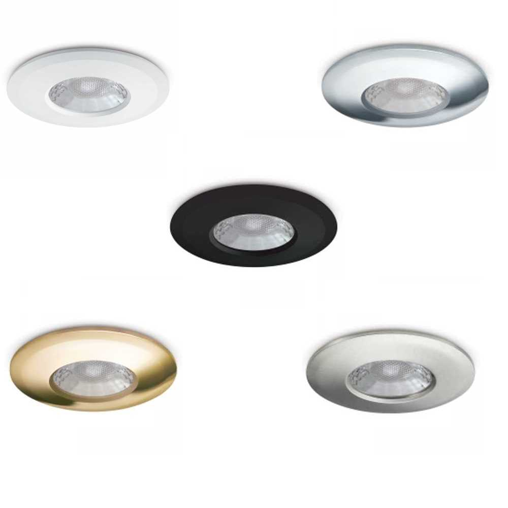 Jcc v50 7 5w fixed fire rated led downlights colour selectable 3000 4000k ip65