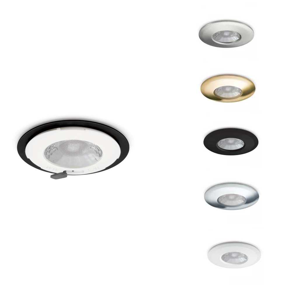 JCC V50 7.5w Fixed Fire Rated LED Downlights & Bezels Colour Selectable 3K 4K