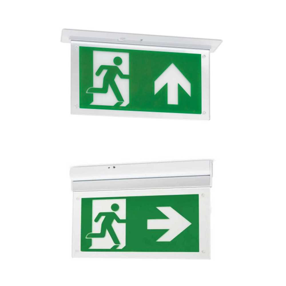 JCC 3W LED Maintained Exit Blade Surface or Recessed Supplied Without Legend