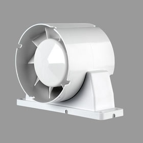Airflow Aura Auinl100t 100mm Inline Extractor Fan With Timer Inline Bathroom Fans