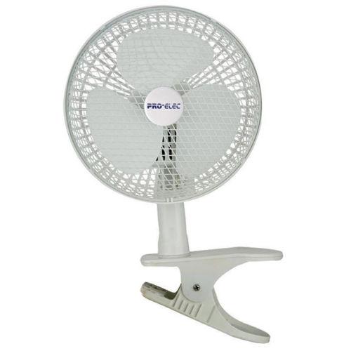 """PEL00293 PRO-ELEC 6"""" Clip On Fan with 360 Degree Pivot"""