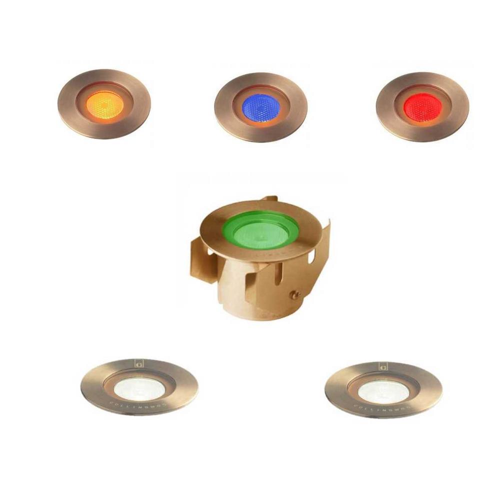 Collingwood GL016 F AB Antique Brass Round 1 Watt LED Ground Lights IP68