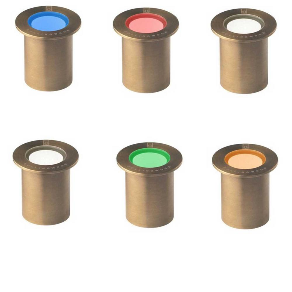 Collingwood GL018 C AB 0.5W LED Small Round Antique Brass Marker Lights IP68