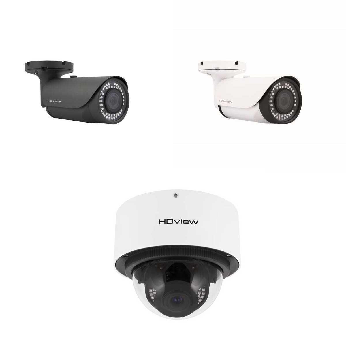 ESP 6-22mm Lens 4MP Super HD Grey White Bullet or White Dome CCTV Cameras