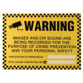 ESP WARN1 CCTV External Warning Sign Black and Yellow