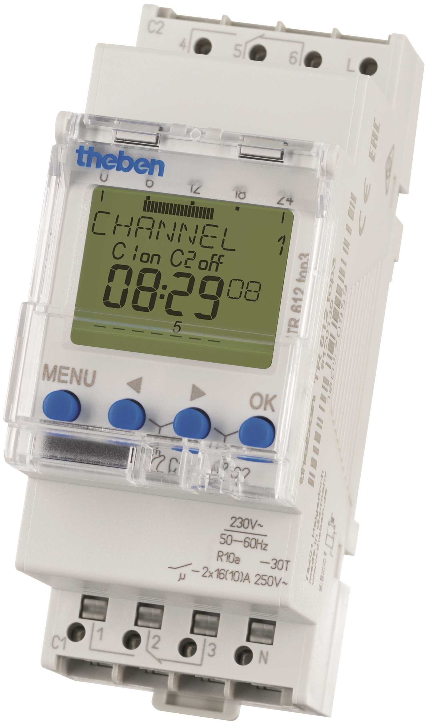 Timeguard TR612TOP3 24 Hr/7 Day 2 Channel 16A Digital Timeswitch
