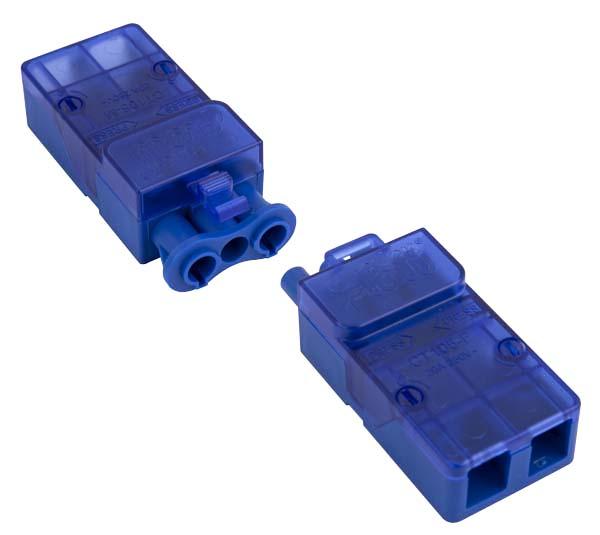 Click CT105C Flow 20A 3P Complete Push Fit Connector