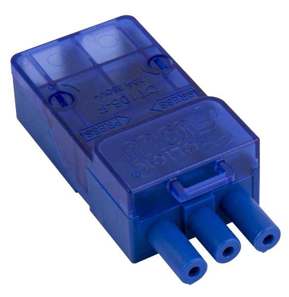 Click CT105F Flow 20A 3P Female Push Fit Connector