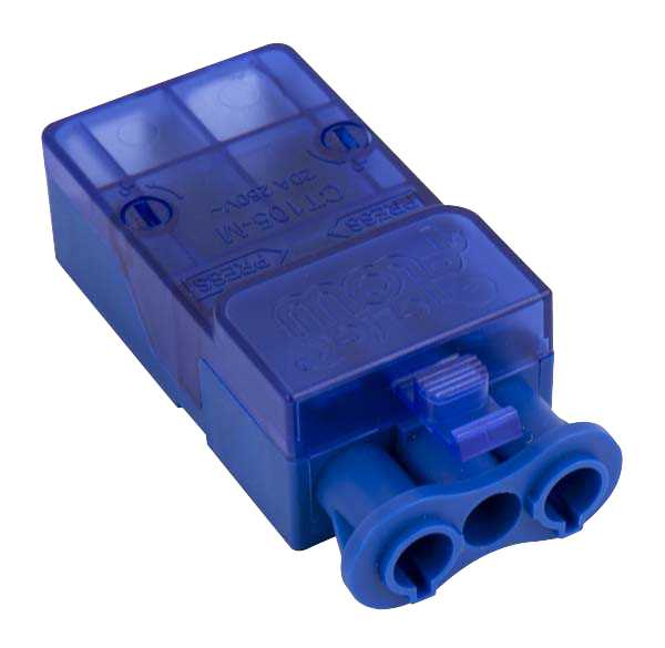 Click CT105M Flow 20A 3P Male Push Fit Connector