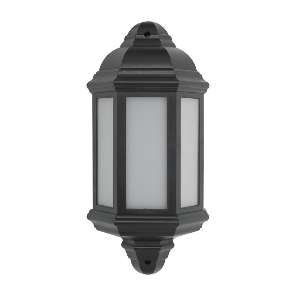 BELL 10352 Retro Vintage 8W LED Integrated Half Lantern Black IP54