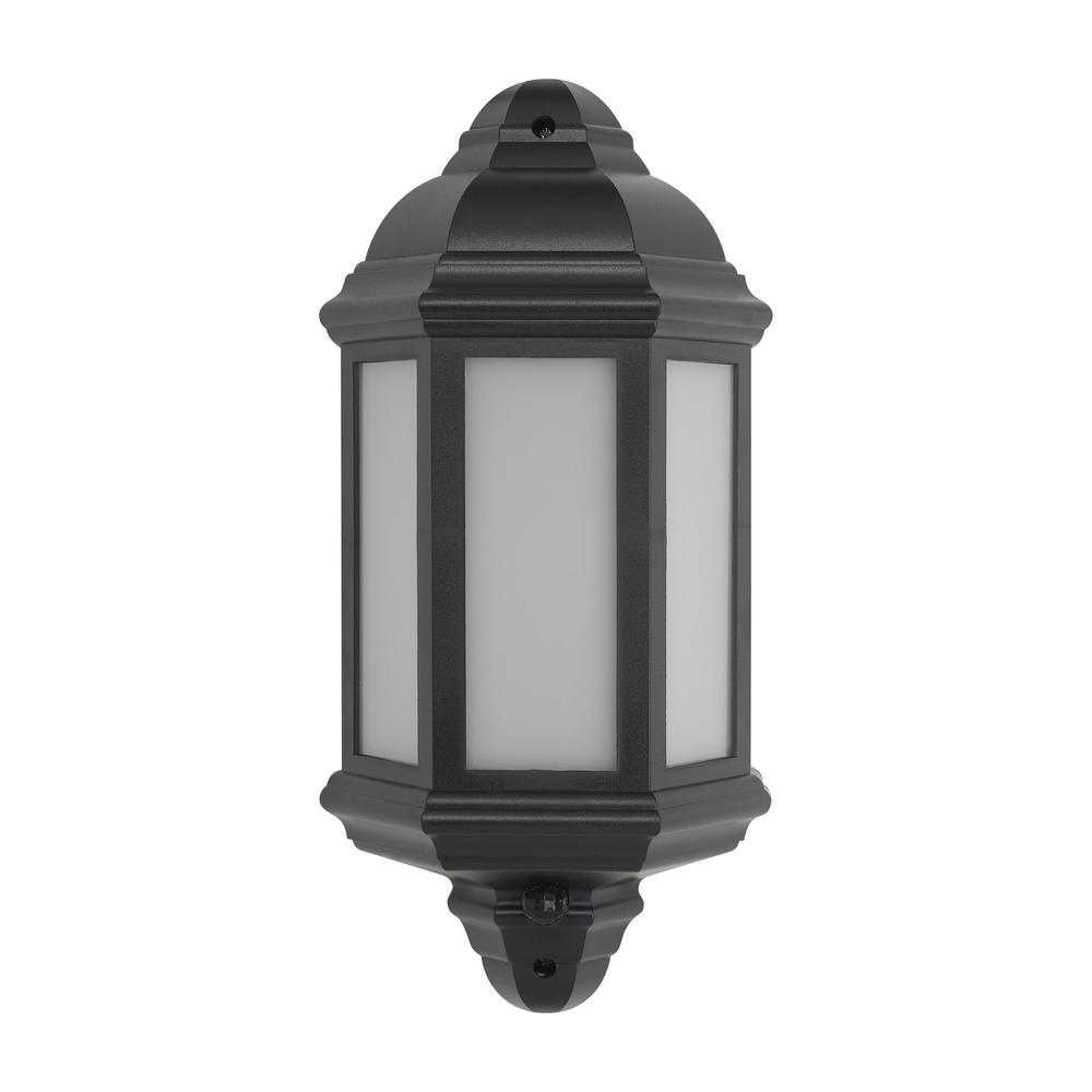 BELL 10353 Retro Vintage 8W LED Integrated Half Lantern PIR Black IP54