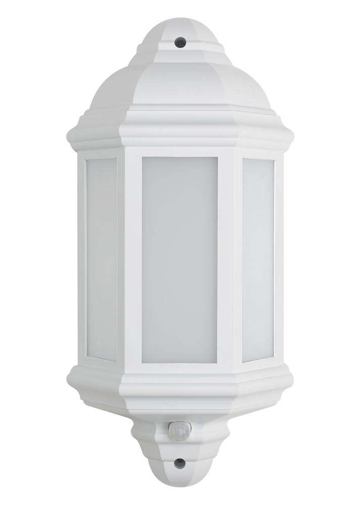 BELL 10357 Retro Vintage 8W LED Integrated Half Lantern PIR White IP54