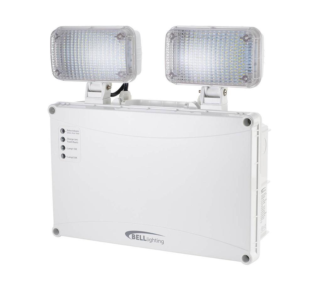 BELL 09035 Spectrum 10W LED NM Self Test Emergency Twin Spot IP65