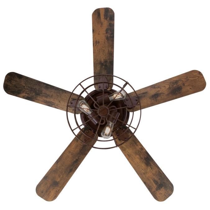 Barnwood Ceiling Fan With Led Light Kit
