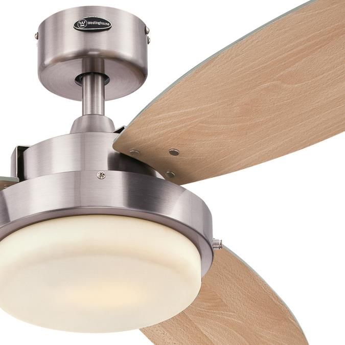 """Westinghouse Alloy 52"""" Ceiling Fan with Light Kit Brushed ..."""