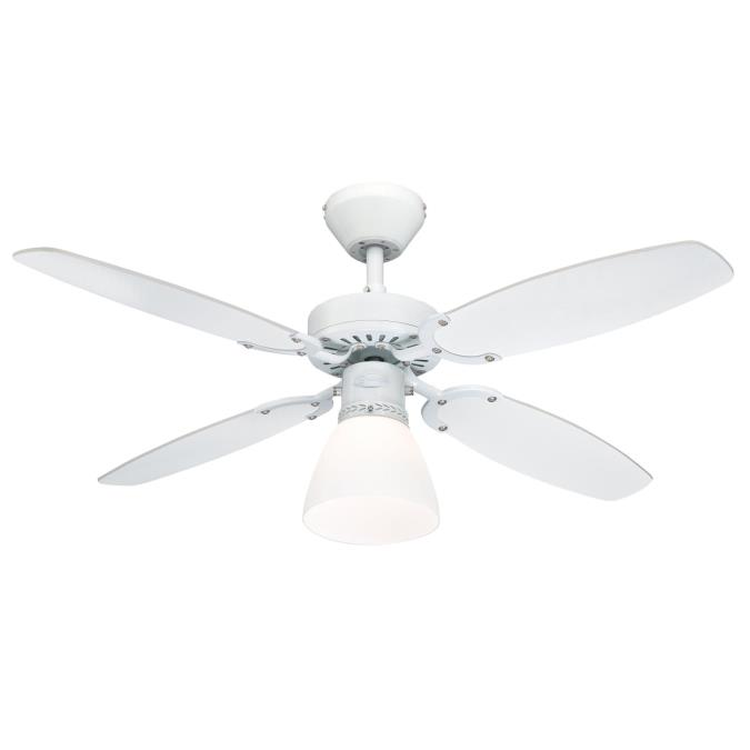"""Westinghouse Capitol 42"""" White Ceiling Fan with Light Kit ..."""