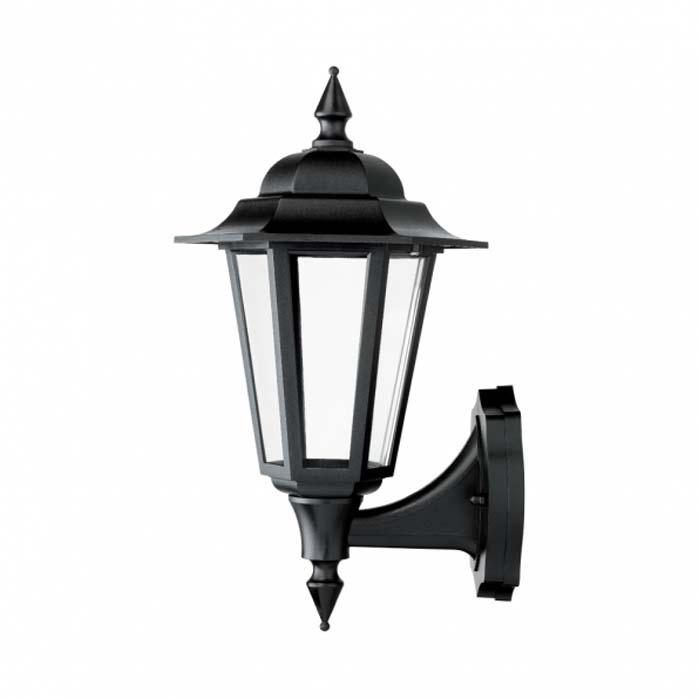 JCC Montella LED Wall Lantern With Bottom Arm Black