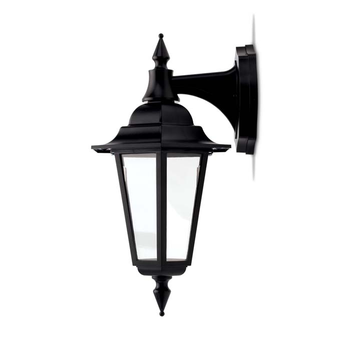 JCC Montella LED Wall Lantern With Top Arm Black