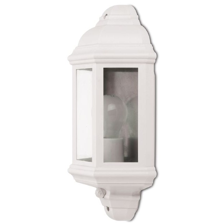 JCC Montella JC32017 White Half Wall Lantern With PIR