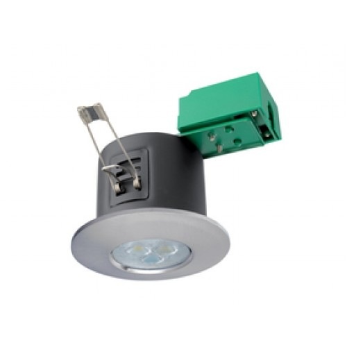 JCC Fireguard LED3 LED Fire Rated Dimmable Downlight in Brushed Nickel