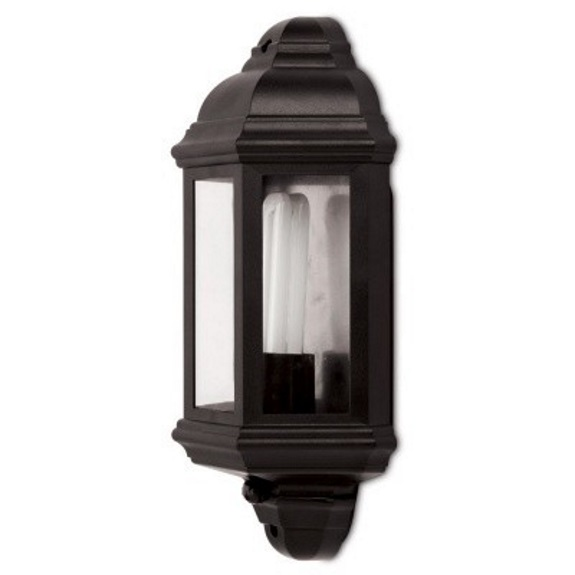 JCC Montella JC32017 Black Half Wall Lantern With PIR
