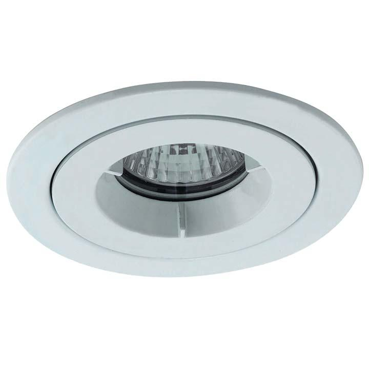 Ansell iCage Mini IP65 LED Downlight Matt White Fire Rated