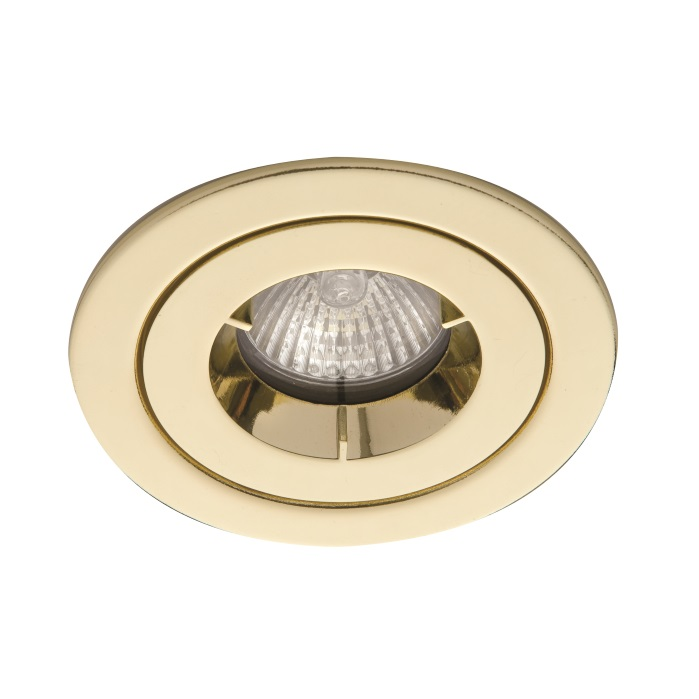 Ansell iCage Mini IP65 LED Downlight Brass Fire Rated