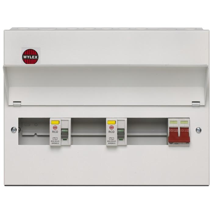 Wiring Diagram Dual Rcd Consumer Unit : Wylex metal amendment way dual rcd consumer unit