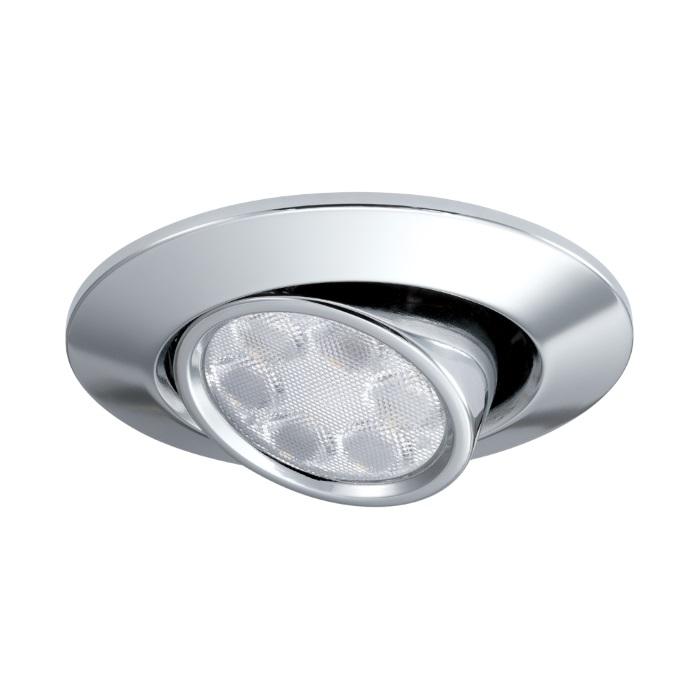 JCC FGLED6 Tilt Dimmable LED Chrome Downlight WW
