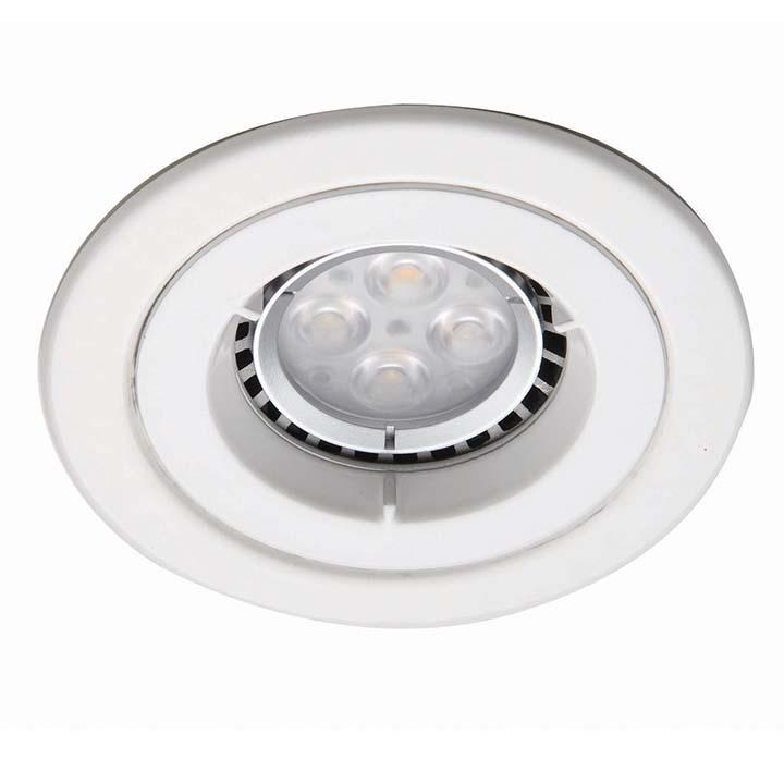 Ansell iCage Mini Fixed LED Downlight Matt White Fire Rated