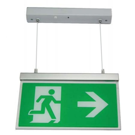 Channel Razor LED Emergency Exit Sign with Hanging Fitting