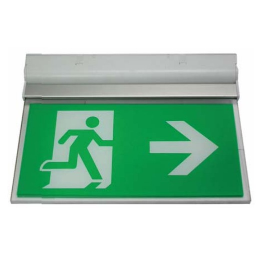 Channel Razor LED Emergency Exit Sign for Wall or Ceiling  Mounting