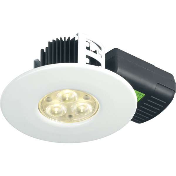 Halers H2 Lite LED IP65 Fire Rated White Non Dimmable Downlight 4000K