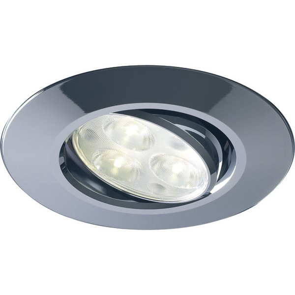 Halers H4 FF Chrome Tilt Dimmable LED Downlight 38D 4000K