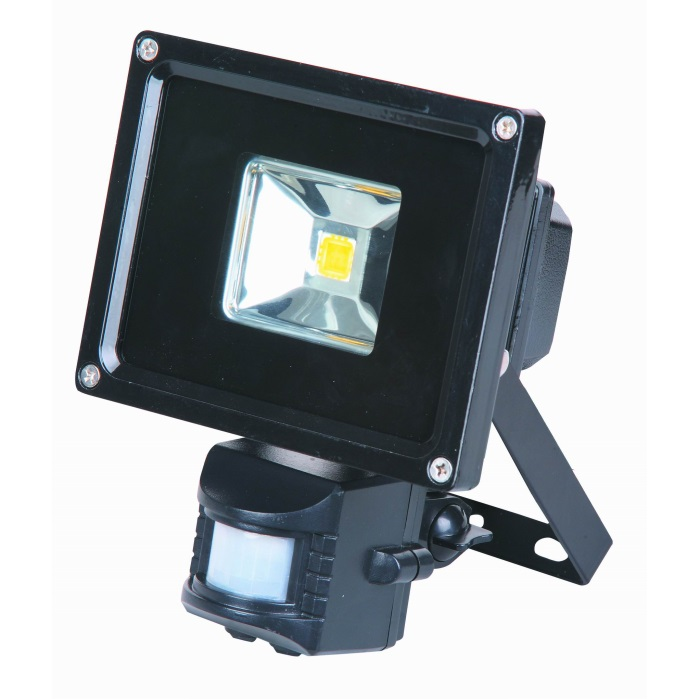 Lumineux 10w LED PIR Black Floodlight