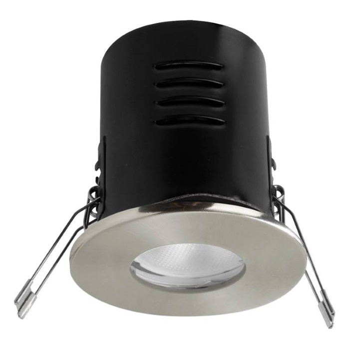 Megaman VersoFIT IP65 Chrome Fixed 2800K LED Dimmable Downlight