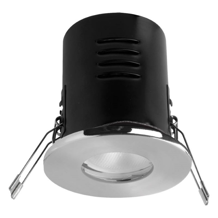 Megaman VersoFIT IP65 Satin Chrome Fixed 2800K LED Dimmable Downlight