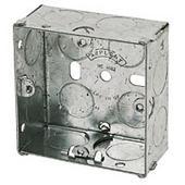 1 Gang 35mm Steel Galvanised KO Box