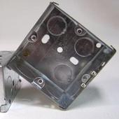 1 Gang 47mm Steel Galvanised KO Box