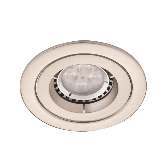 Ansell iCage Mini Fixed LED Downlight Satin Chrome Fire Rated